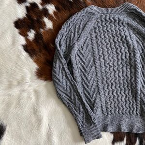 Gray GAP Cable Knit Sweater